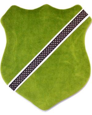Märkessköld - Mörkgrön med prickar