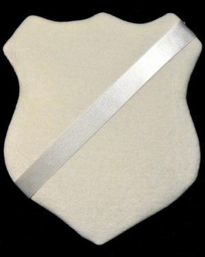 Märkessköld - Vit med vitt band