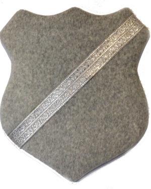 Märkessköld - Grå med silverband