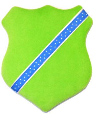 Märkessköld - Ljusgrön med stjärnor
